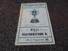 Hull FC v Featherstone Rovers, 1958/59